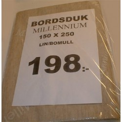 Bordsduk 150x250cl beige