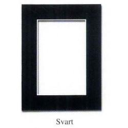 Passepartouter 9x13cm svart