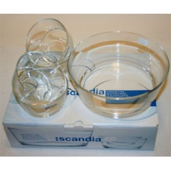 5-pack glas skålset