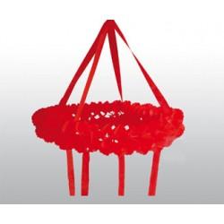 Dekor krans röd diameter 75cm höjd 120cm