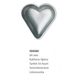 6stk kakform hjärta 64mm