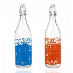 Glasflaska med patentkork 1L med tryck