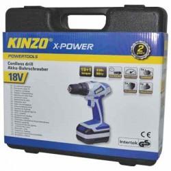KINZO 71784 CORDLESS DRILL 18V 1100mAh XP