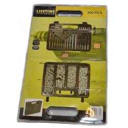 300stk Borr+bits+plugg+väska set