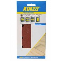 5stk slippapper för trä-rektangulära 93-185mm