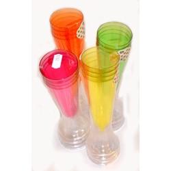 4pk champagneglas i plast med färg
