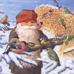 Jultomte med julkärve