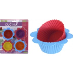 4pk cup cakes med hållare i silikon