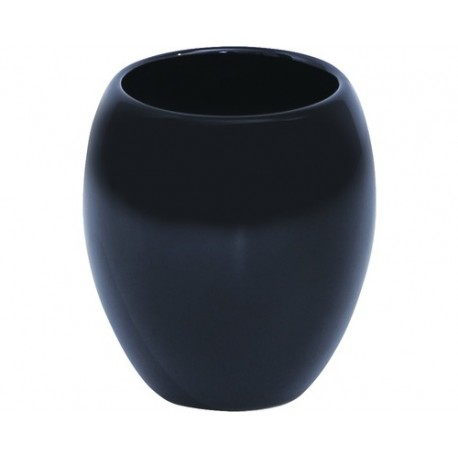 Glaserad Keramik Mugg Svart