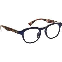 Läsglasögon 2341 Marin-skotskrutig