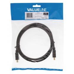 High Speed HDMI Kabel med Ethernet HDMI Kontakt - HDMI Kontakt 1.50 m Svart
