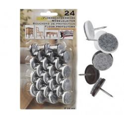 24 Möbeltassar filt med spik
