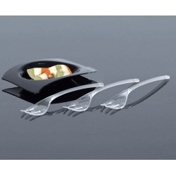 50pk transparent minigaffel L10cm