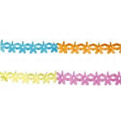 Hängdekor girlang rosa, gul, blå, orange längd 400cm höjd 11cm