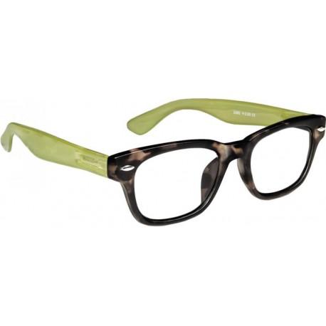 Läsglasögon 2294 matt brunmelarad/jelly green