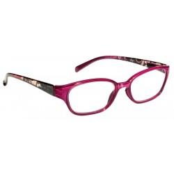 Läsglasögon 2309 cerise/mönster