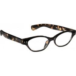 Läsglasögon 2291 brun melerad/svart