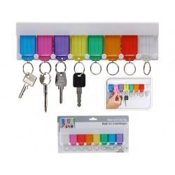 Nyckelringshållare för 8 nyckelringar
