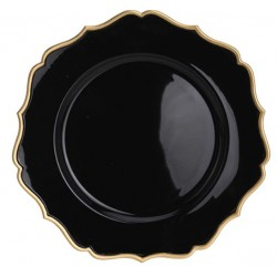 Underläggstallrik Ø33cm svart