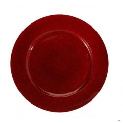 Underläggstallrik 33cm röd