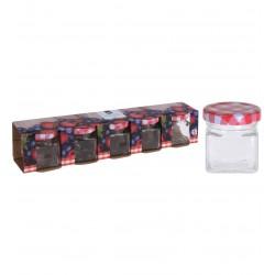 5pk geleburkar i glas 50ml
