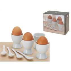 4pk äggkoppar med äggsked