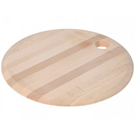 Rund skärbräda Ø30x1,8cm i bok