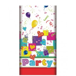 "Duk, papper 120 cm x 180 cm ""Party Mix"" lackat"