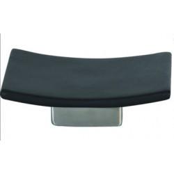 Tvålfat svart keramisk 13.5 x 9 x 3.5cm