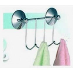 4pk badrummshängare med 2 sugkrokar 20 cm x 5,5 cm x 10 cm