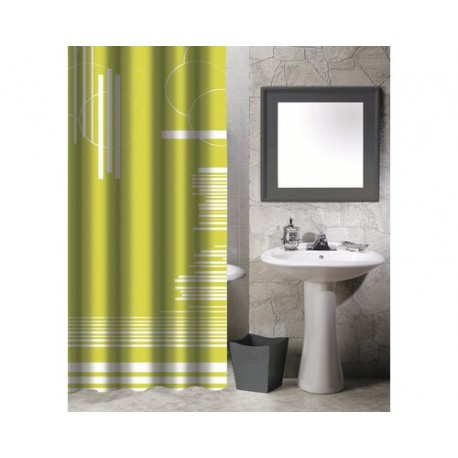 Duschdraperi 180x200 green graphie