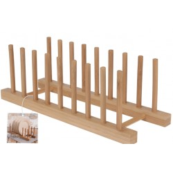 Tallrikshållare i bambu 340 x 125mm