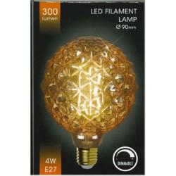 Led lampa E27 4W Ø90mm 300lumen