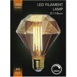 Led lampa E27 4W Ø110mm 300lumen