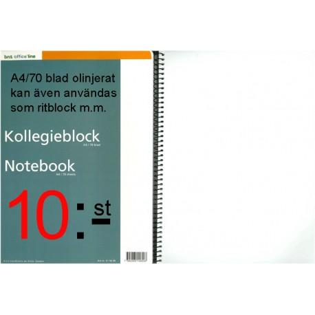 A4 Kollegieblock blankt papper