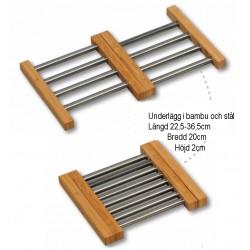 Underlägg i bambu och stål