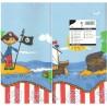 Duk papper 120x180cm Pirate Island