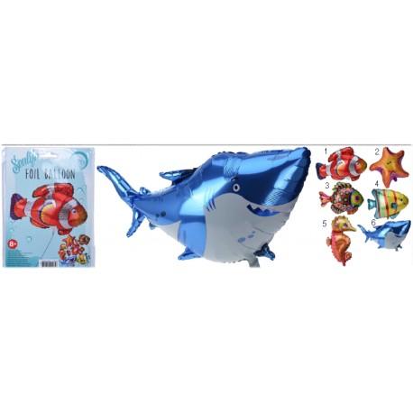 Folie ballong havsdjur 57x98cm