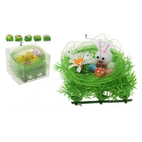 Kanin eller kyckling i bo 8x8x6cm