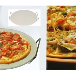 Pizzasten med hållare Ø33cm