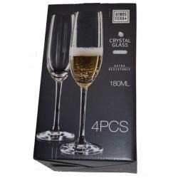 4pk kristallglas för champagne blyfri
