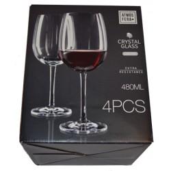 4pk kritstallglas för rödvin 480ml blyfri