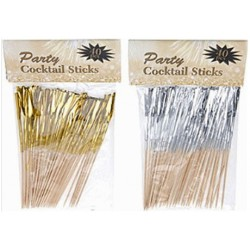 40stk Party sticks guld eller silver