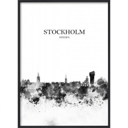Poster 30x40 B&W Stockholm 1