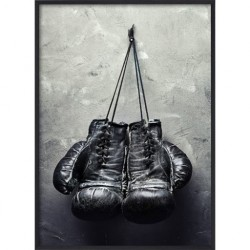 Poster 30x40 Black Boxing Gloves