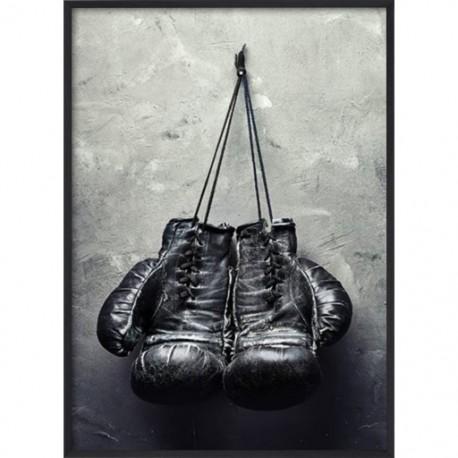 Poster 30x40 Black Boxing Gloves