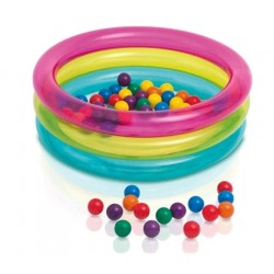 Intex baby pool med 50 bollar i olika färger