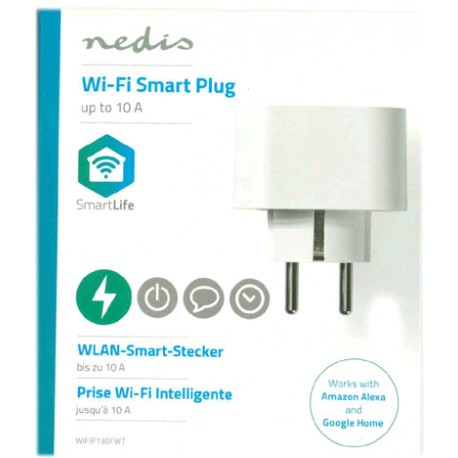 Smart Wi-Fi-kontakt | Schuko typ F | 10 A