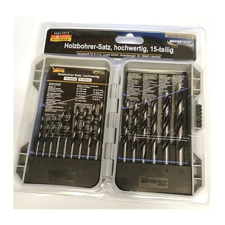 Borrset trä 3x3,0,2x4,0mm 1x5,0-10,0mm 2x3,5mm 1x4,5-8,0mm
