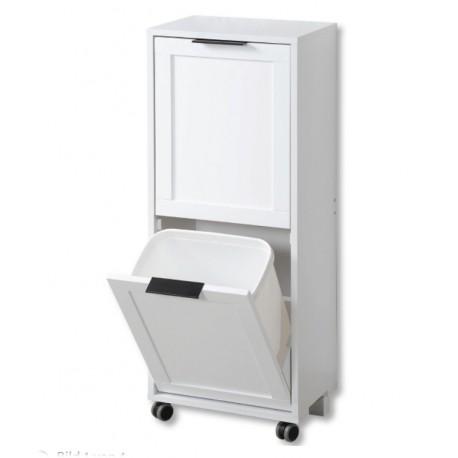 Köksvagn med avfallssystem vit